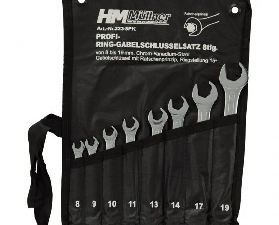 223-8PK-Ring-Gabelschlüsselsatz